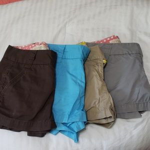4 pairs J Crew shorts size 2